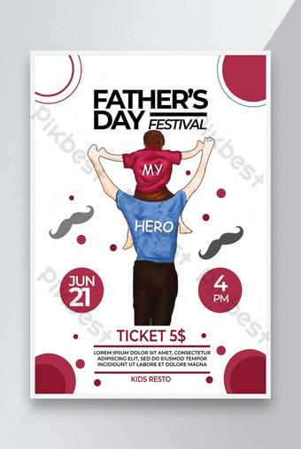 Flyer de fête des pères Modèle PSD