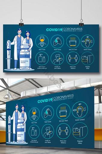 Corona Covid 19 Profilowanie wirusów Infograpa Premium Vector Szablon EPS
