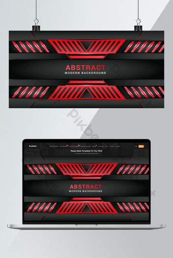 Fondo rojo abstracto diseño papel pintado ilustración vectorial Fondos Modelo AI