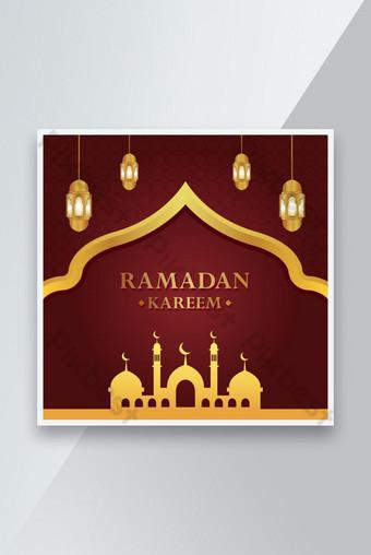 Desain templat latar belakang Ramadan Kareem Templat EPS