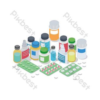 vektor dan kreatif covid 19 obat desain grafis elemen rumah sakit png Elemen Grafis Templat EPS
