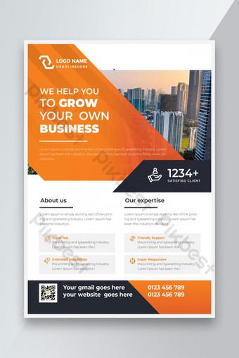 Presentasi Flyer Bisnis Promosi Promotional Kreatif Templat AI