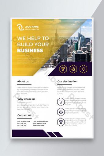 Lembaran promosi agen bisnis dengan file siap cetak Templat AI
