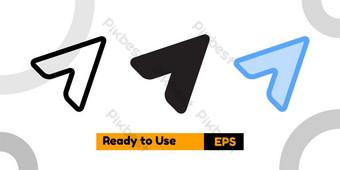 Compartir icono con tres estilo para el sitio web de las redes sociales y la presentación. Elementos graficos Modelo EPS