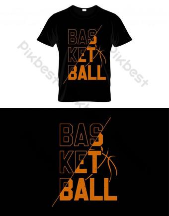 Basketball tipografi t shirt desain vektor poster atau template Elemen Grafis Templat EPS