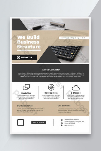 Perusahaan Flyer Business Leaflet Template Brosur Desain A4 Ukuran Templat EPS