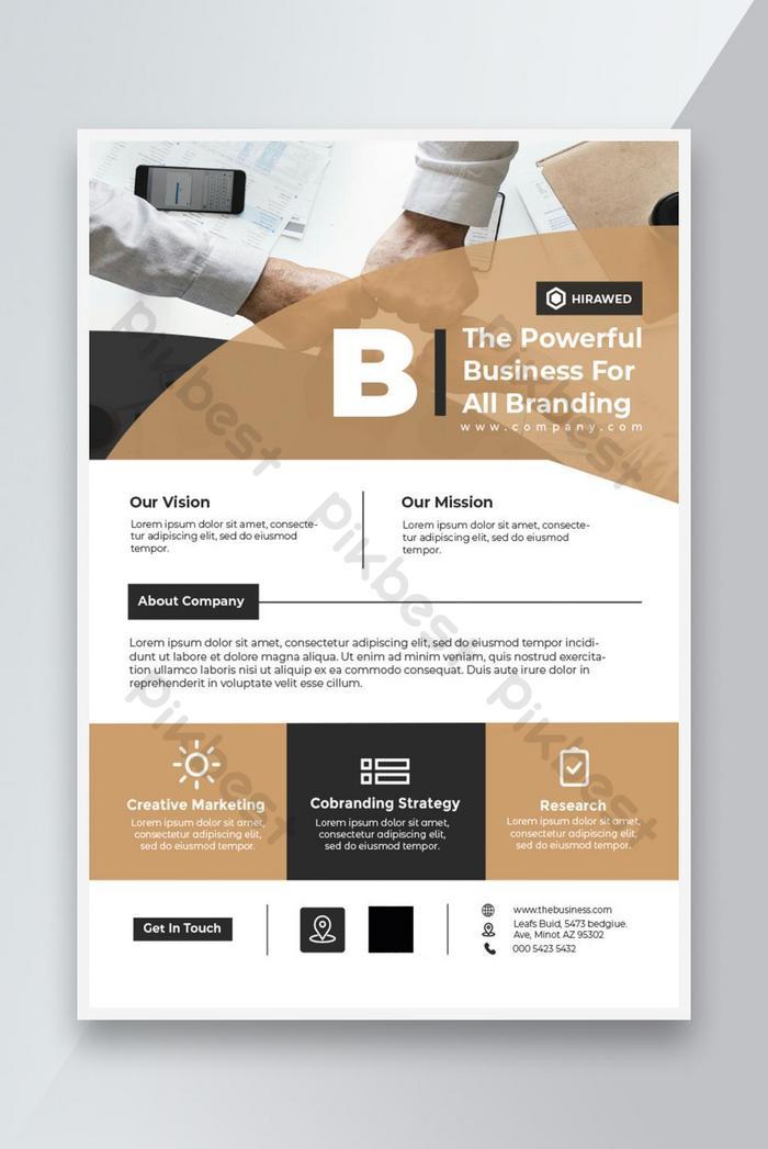 perusahaan flyer business leaflet template brosur desain a4 ukuran