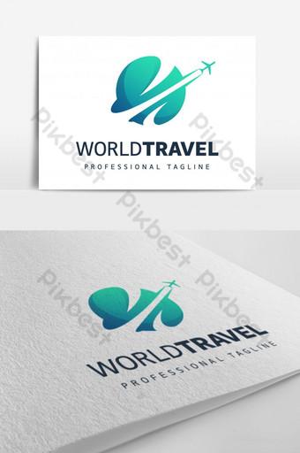 세계 여행 로고 디자인 템플릿 EPS
