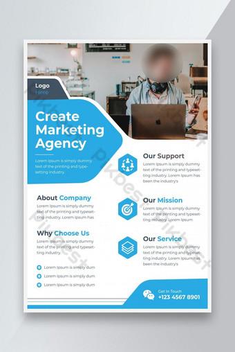Business Flyer Business Poster Template Brosur Penutup Desain A4 Ukuran Vektor Templat EPS