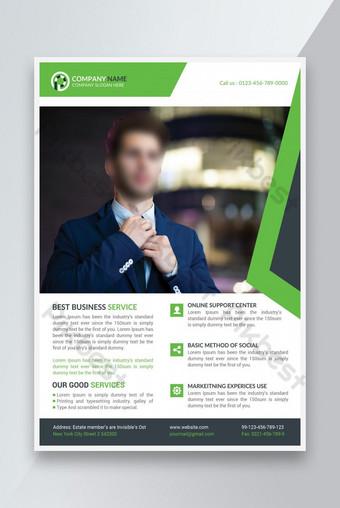 Template Bisnis Perusahaan untuk Brosur Poster Flyer Templat PSD