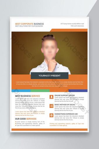 Flyer Business Flyer Poster Template Brosur Penutup Desain Templat PSD