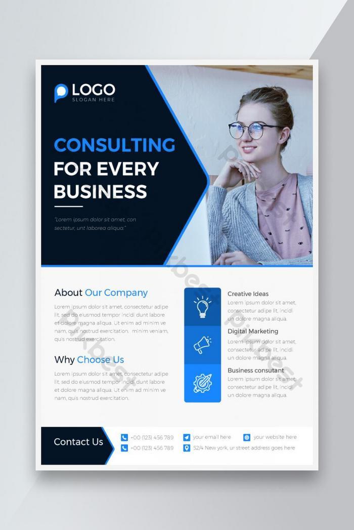 bisnryer konsultasi bisnis biru dan hitam yang enadite