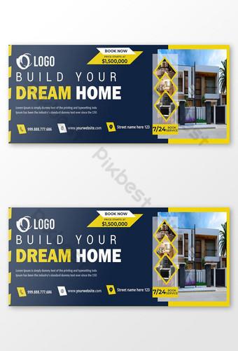 Template Penutup Facebook Rumah Mimpi Baru Templat PSD