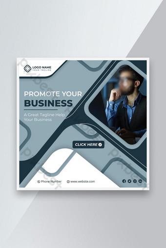 Business Social Media Post Banner Template Desain Kreatif Sederhana Templat EPS