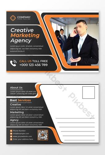 Professionnel Marketing Agence Carte d'invitation Modèle Design Double face Design Modèle EPS