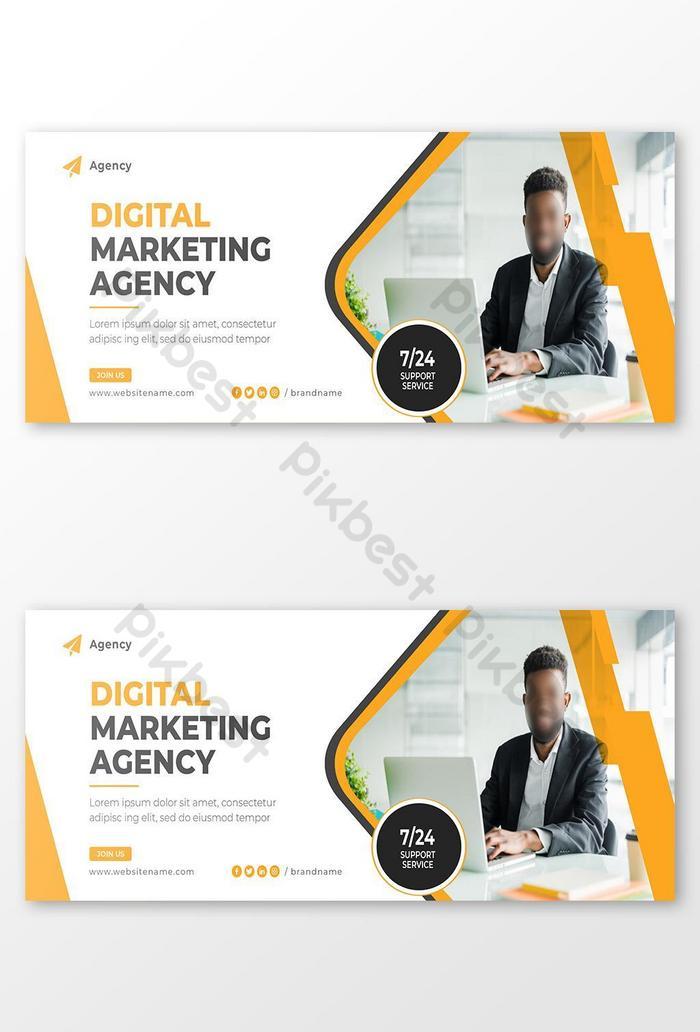 badan pemasaran digital baru template sampul facebook