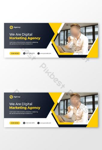 Badan Pemasaran Digital Facebook Sampul Foto Dan Templat Banner Web Templat PSD