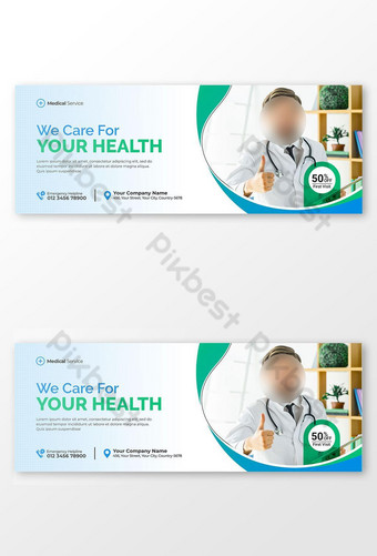 Dokter Gigi dan Perawatan Gigi Facebook Sampul Foto dan Templat Spanduk Web Templat PSD