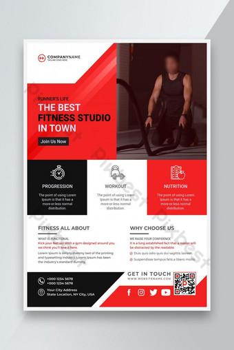 Modèle de dépliant et de brochure de gymnastique moderne de gymnastique Modèle AI