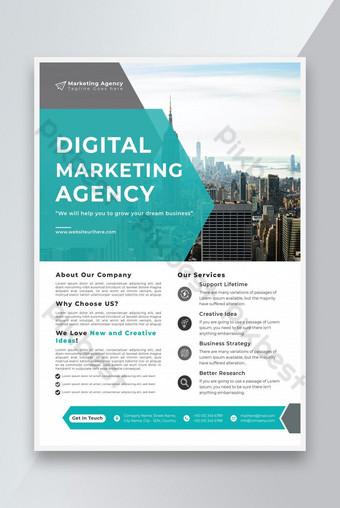 Modèle de dépliant de l'agence marketing ou agence de marketing numérique Flyer ou Business Flyer Design Modèle EPS