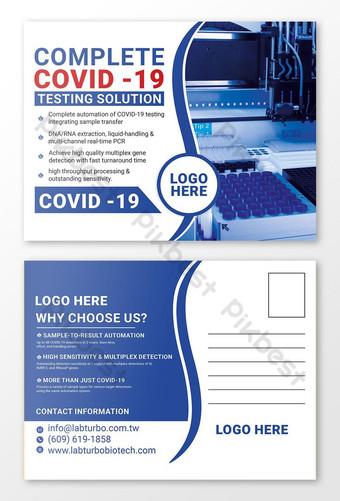 Covid 19 Rapid Testing Postcard Design Szablon PSD