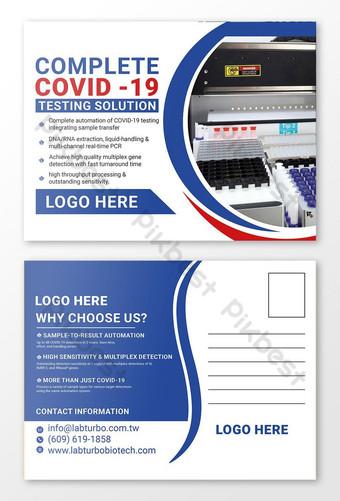 COVID 19 Projekt pocztówki testowej Szablon PSD