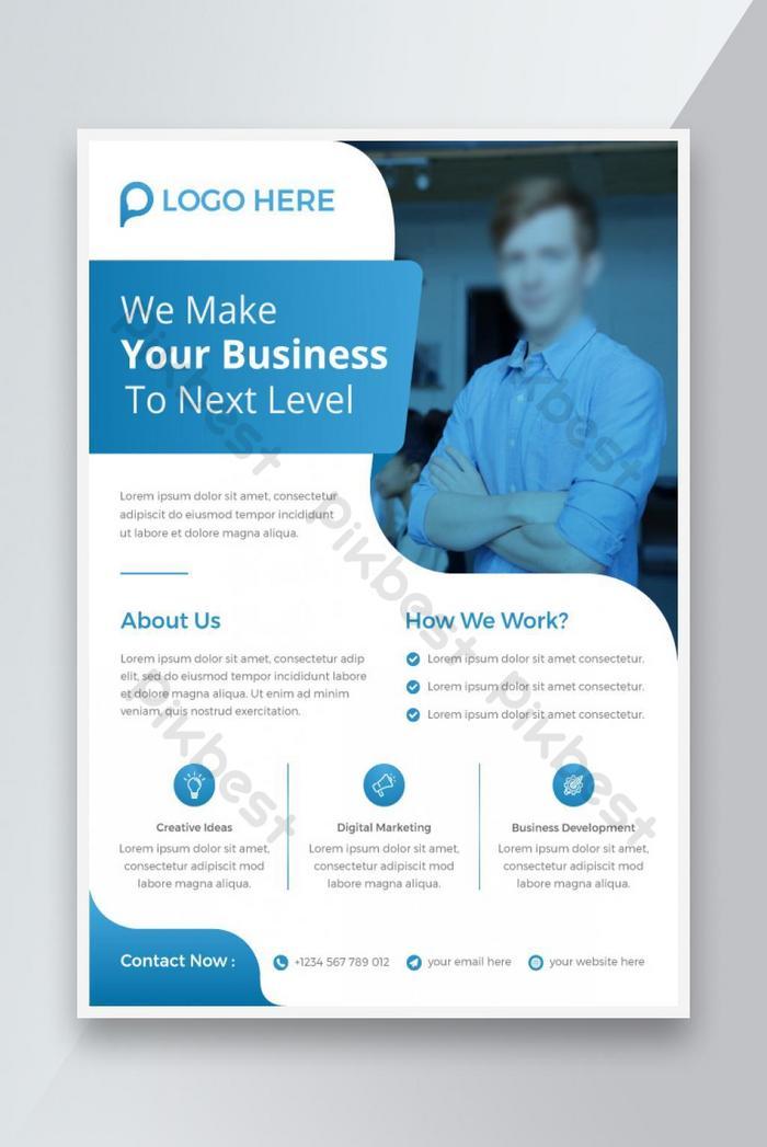 templat flyer bisnis perusahaan yang dapat diedit