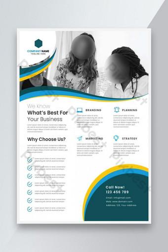 Poster Flyer Business Corporate Kreatif Ukuran A4 Templat AI