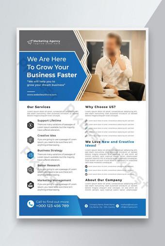 Desain Flyer Bisnis atau Templat Flyer Perusahaan dan Desain Flyer Badan Pemasaran Templat EPS