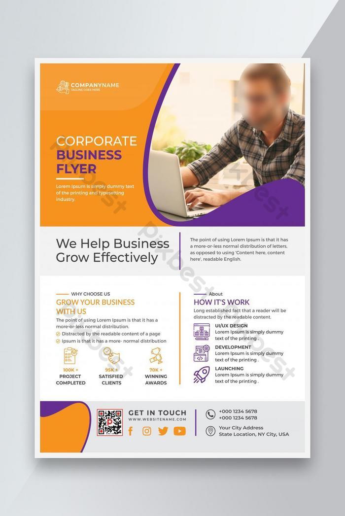 vektor templat business flyer corporate