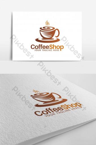 Cafetería Vector Logo Design Modelo EPS