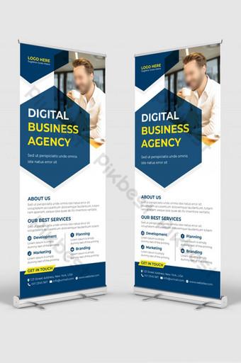 Carte de rack DL Carte de rack Corporate DL Flyer Design Roll Up Bannière Signage Stande Modèle AI