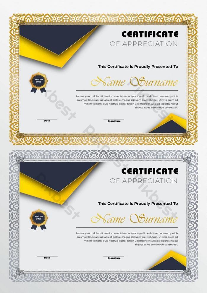 sertifikat modern templat apresiasi