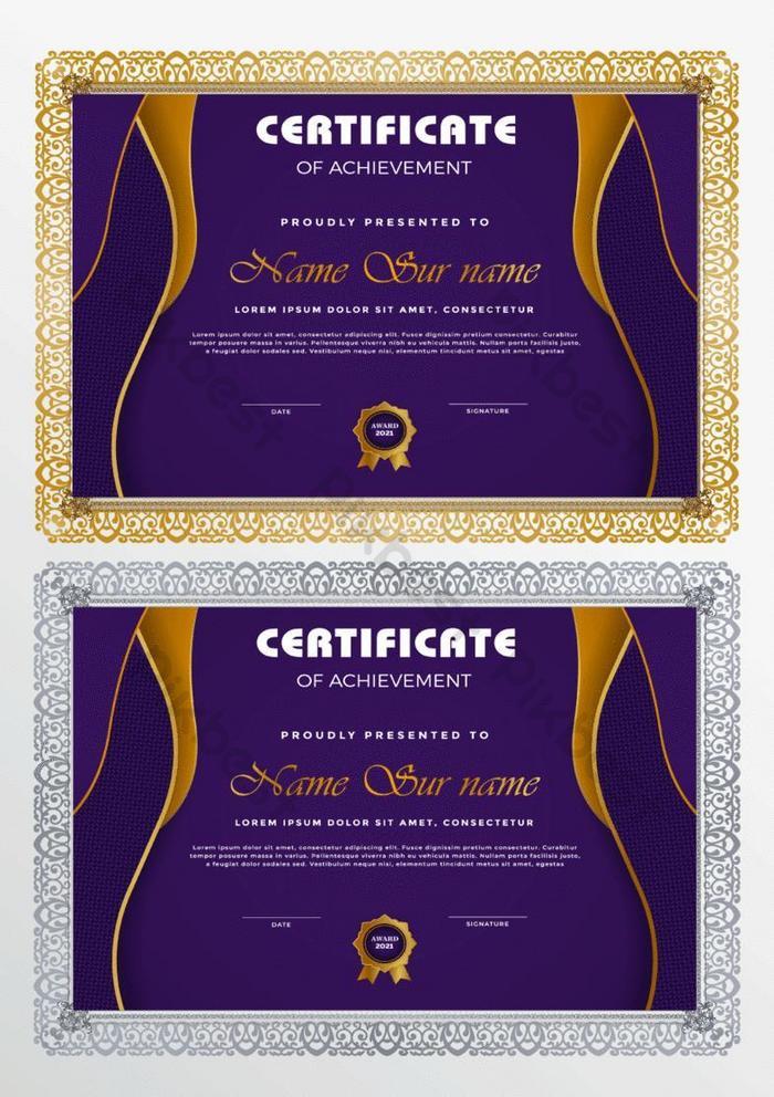 templat sertifikat dalam gaya modern