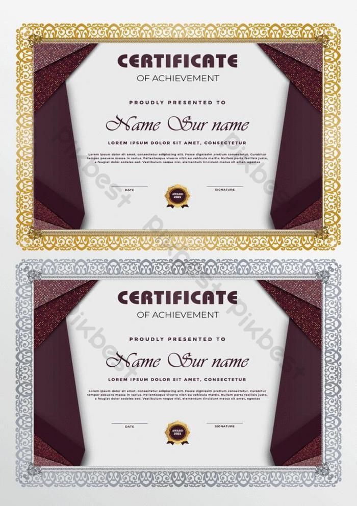desain sertifikat prestasi mewah modern