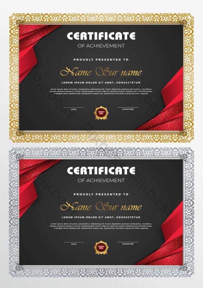 abstrak templat sertifikat gaya luxur baru