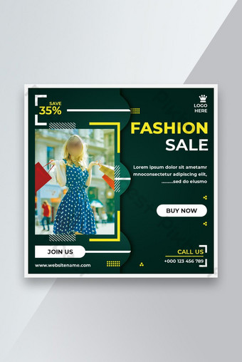 Summer Sale Social Media Banner Design Template PSD