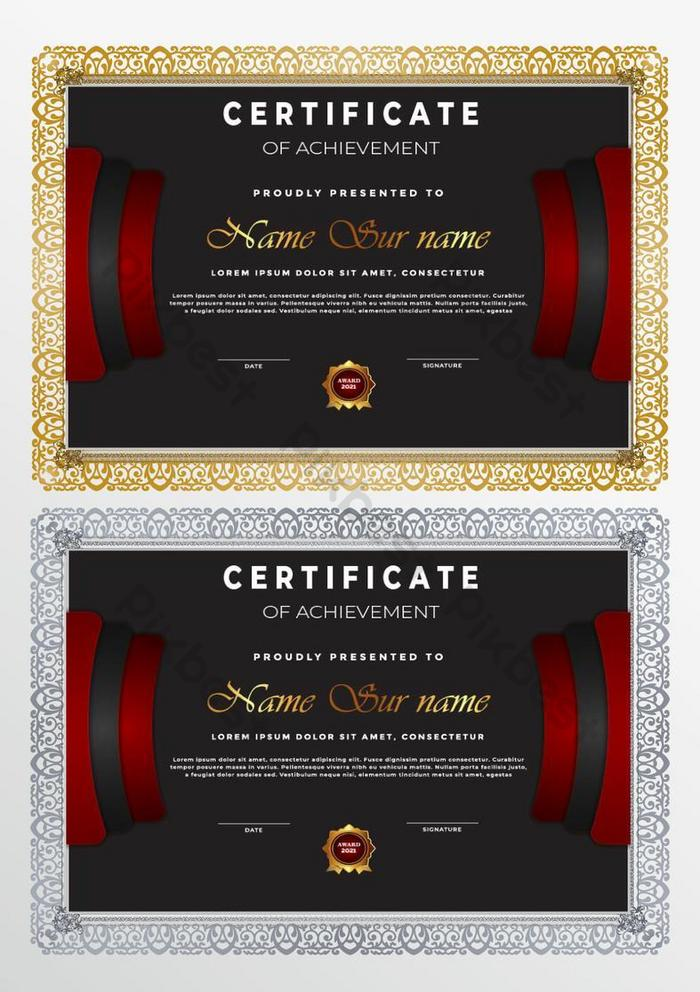 sertifikat geometris abu-abu