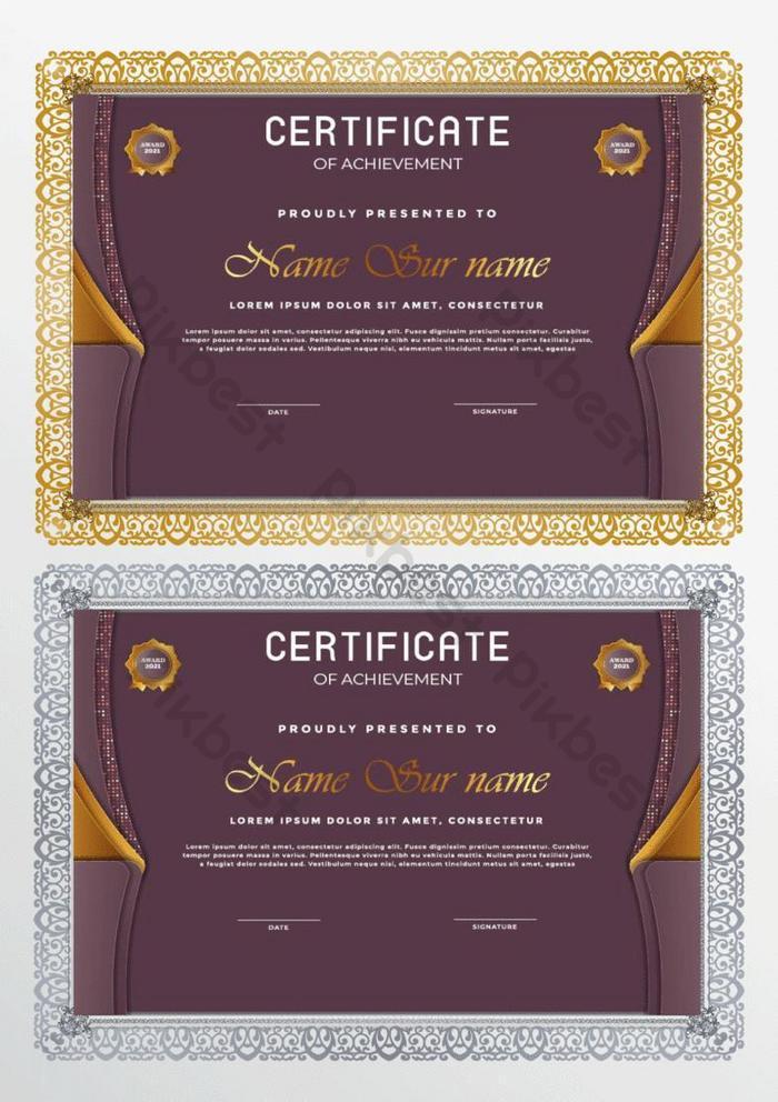sertifikat mewah modern dari template apresiasi