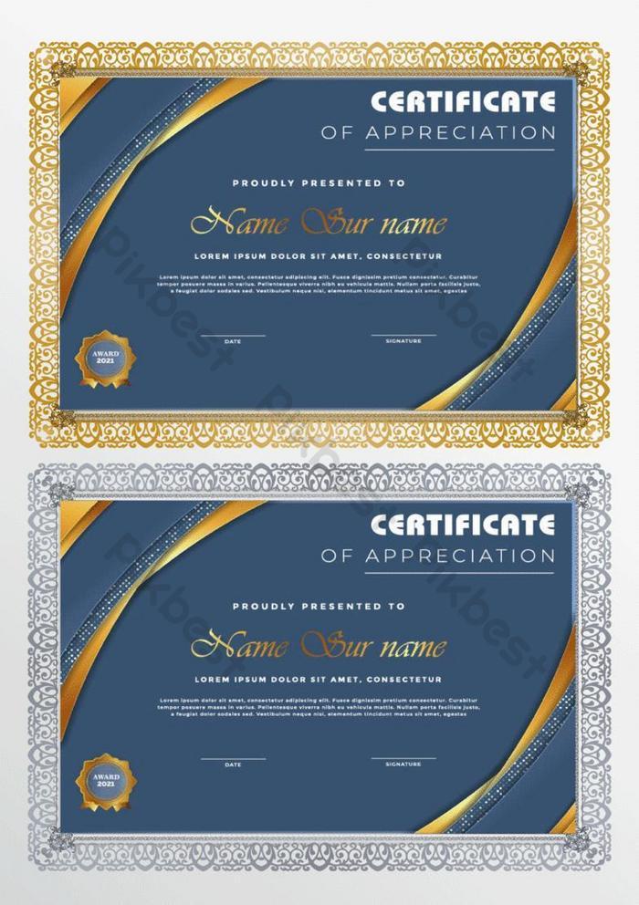 templat sertifikat bisnis dalam desain geometris modern