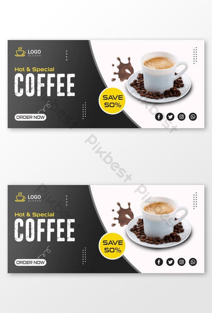 banner media sosial kopi atau templat penutup
