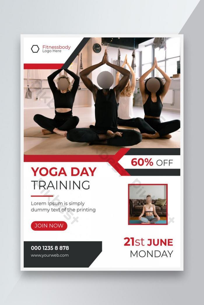 fitness international yoga day fitness promoção panfleto