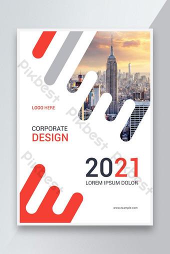 Desain template Flyer dengan Laporan Tahunan Tata Letak Templat EPS