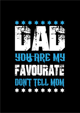 Father's Day greetings, slogan for t shirt design template. PNG Images Template AI