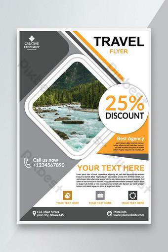Nature Travel Flyer Template Fichier Vecteur Télécharger Modèle EPS