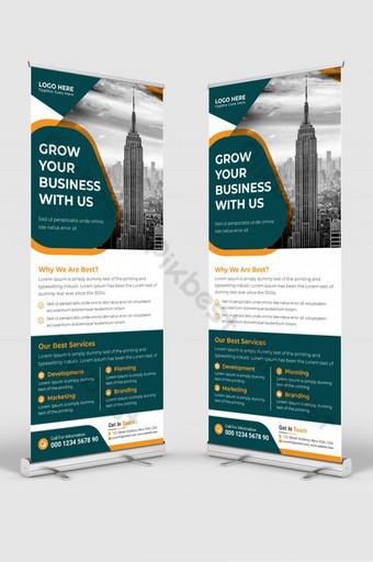 Carte de rack DL Rack Card Corporate DL Flyer Design Roll Up Bannière Modèle AI