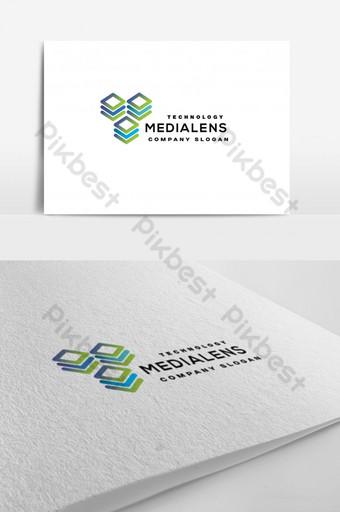 Tecnología logo AI plantilla Modelo AI