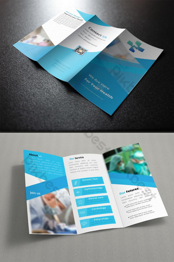 Template promosi brosur trifold medis sederhana Templat EPS