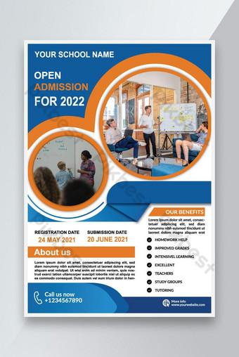 Modèle de flyer d'admission scolaire Design Vector Fichier Télécharger Modèle EPS