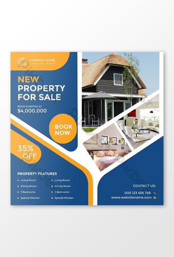 Immobilier Maison à vendre Marketing Social Media Post et Web Banner Modèle de bannière Modèle AI